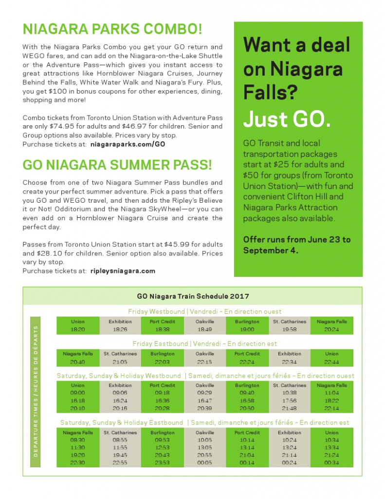 NEW Weekend Getaway Packages with GO Train | Niagara Cycling